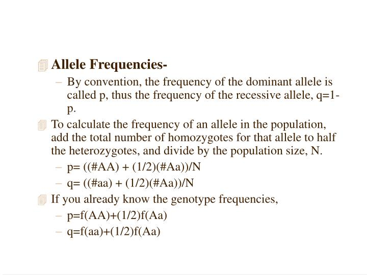 Allele Frequencies-
