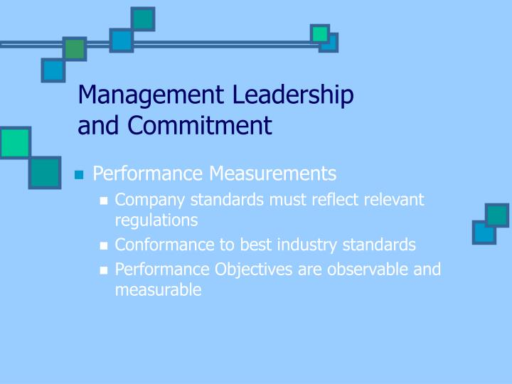 Management Leadership and Commitment