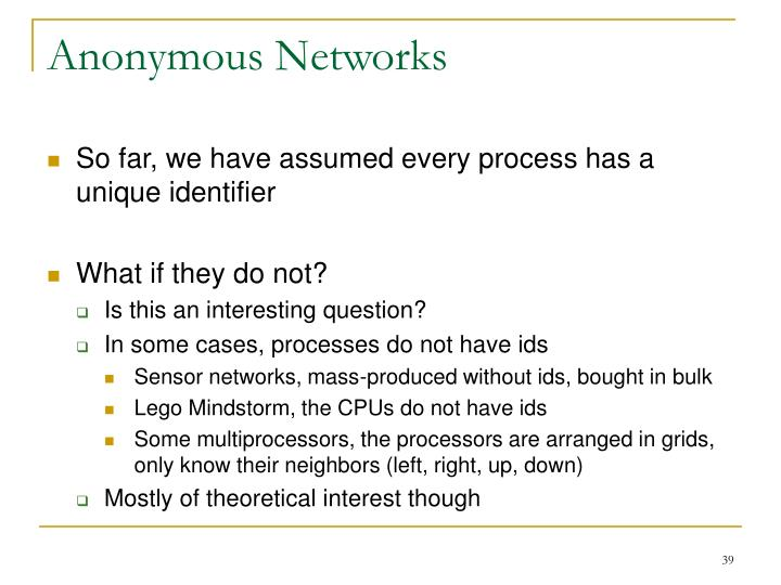 Anonymous Networks