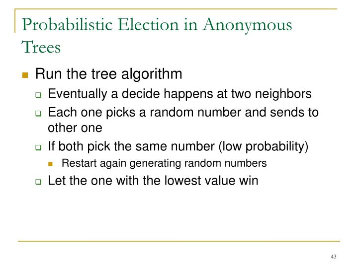 Probabilistic Election in Anonymous Trees