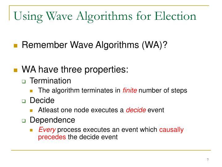 Using Wave Algorithms for Election