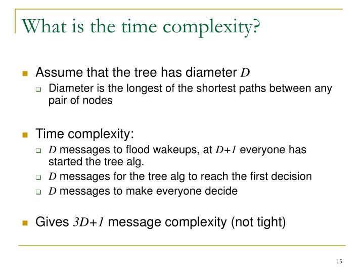 What is the time complexity?