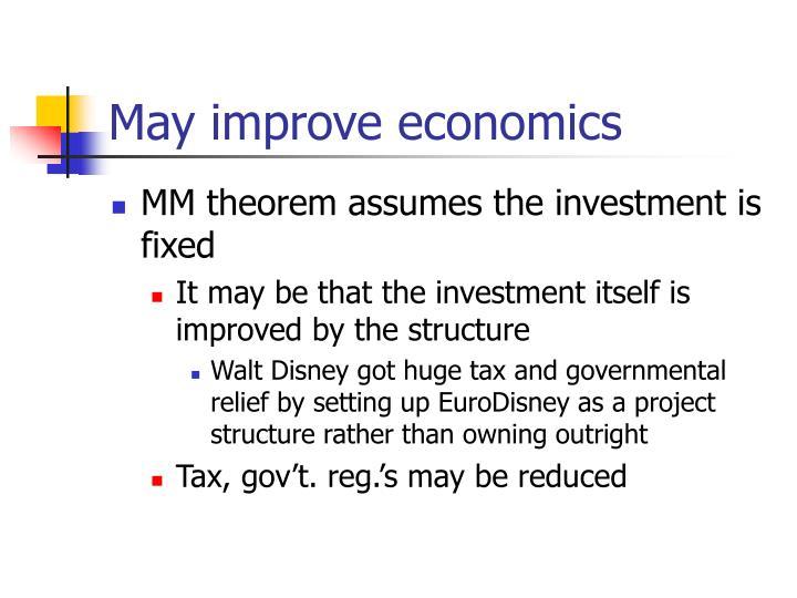 May improve economics