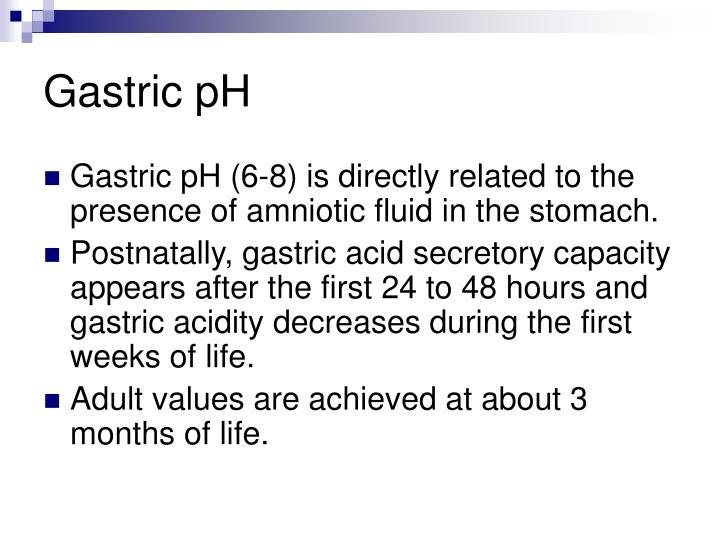 Gastric pH