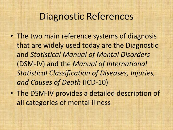 Diagnostic References