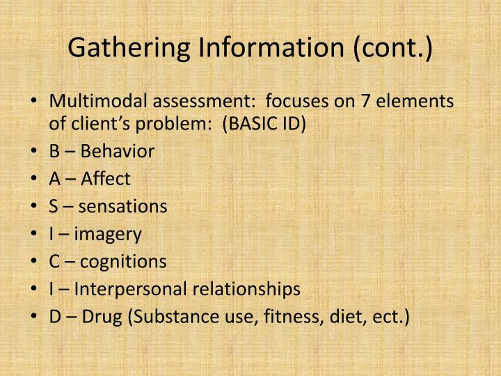 Gathering Information (cont.)