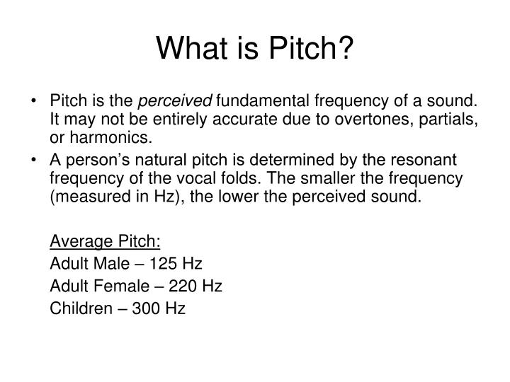 What is Pitch?