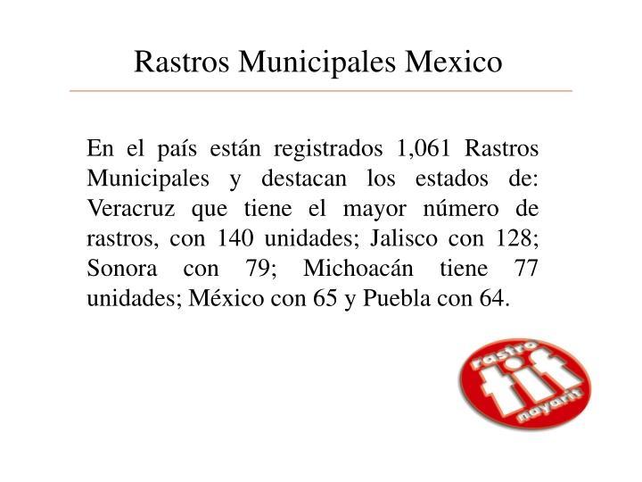 Rastros Municipales Mexico