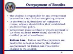 overpayment of benefits1