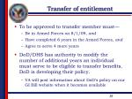 transfer of entitlement1