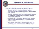 transfer of entitlement2
