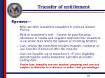 transfer of entitlement3