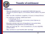 transfer of entitlement4