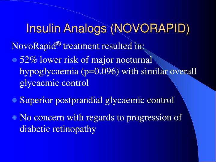 Insulin Analogs (NOVORAPID)