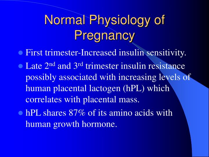 Normal Physiology of Pregnancy