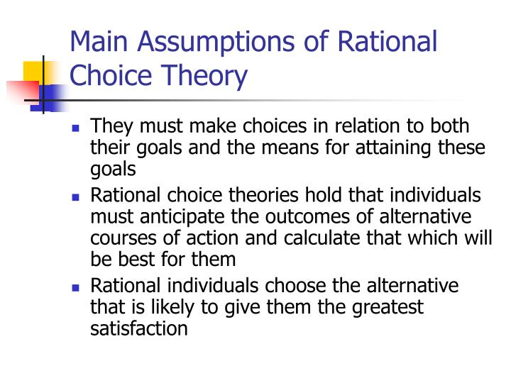 deterrence and rational choice theory of Deterrence effects and rational responses by criminals has substantially changed  the  niggli, m a (1994), 'rational choice theory and crime prevention.