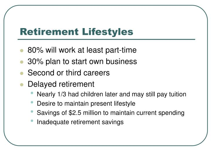 Retirement Lifestyles