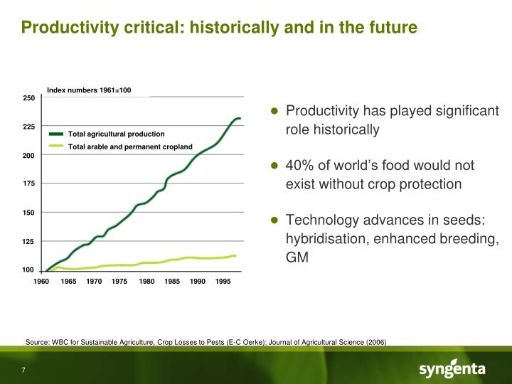 Productivity critical: historically and in the future
