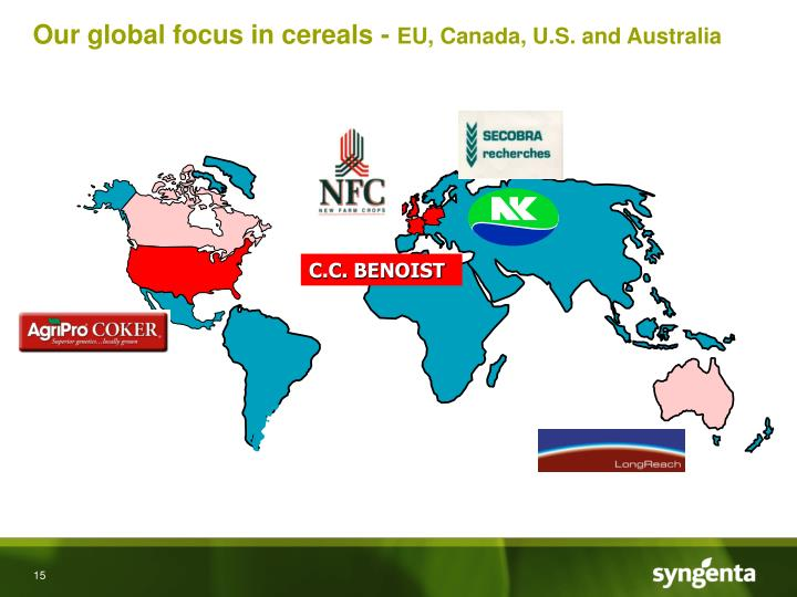 Our global focus in cereals -