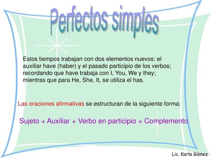 Perfectos simples