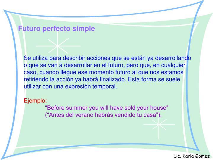 Futuro perfecto simple