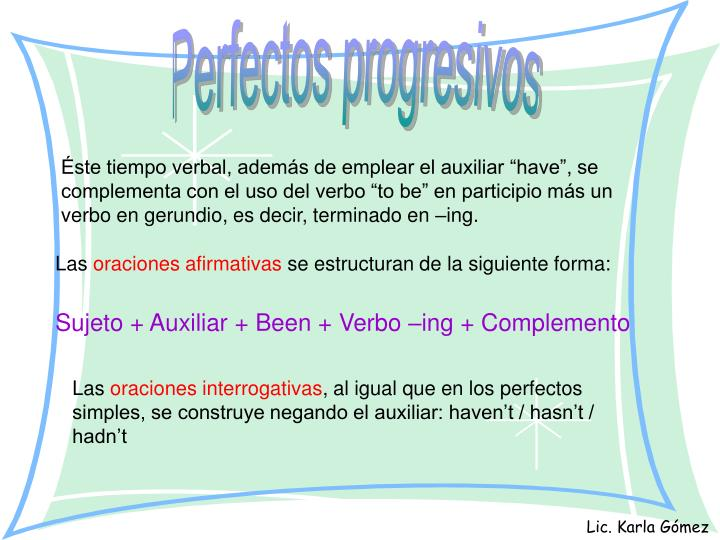 Perfectos progresivos