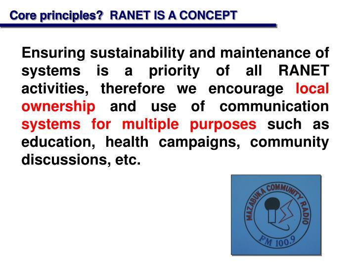 Core principles?
