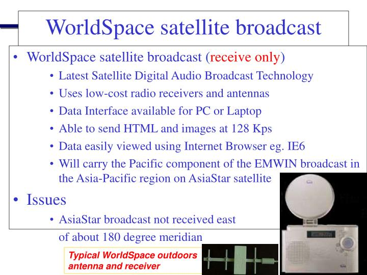 WorldSpace satellite broadcast