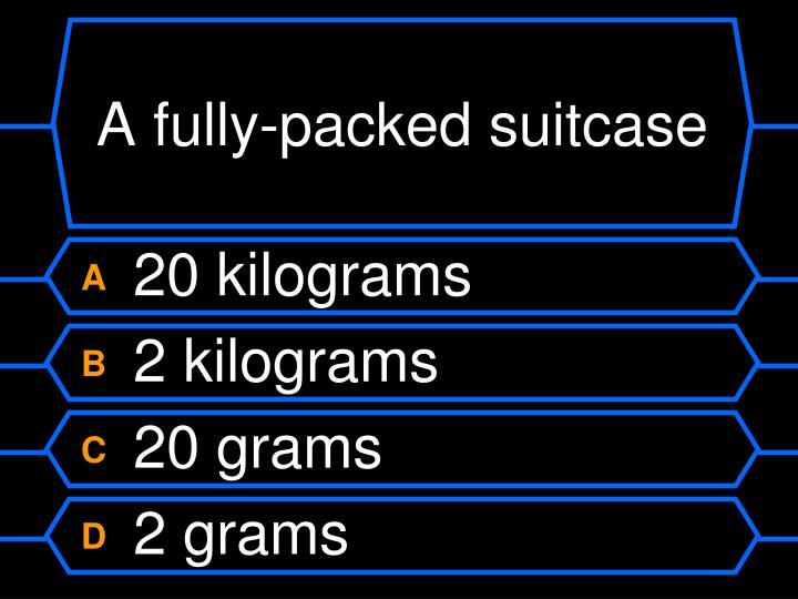 A fully-packed suitcase