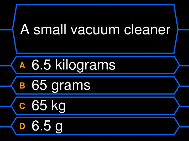 A small vacuum cleaner