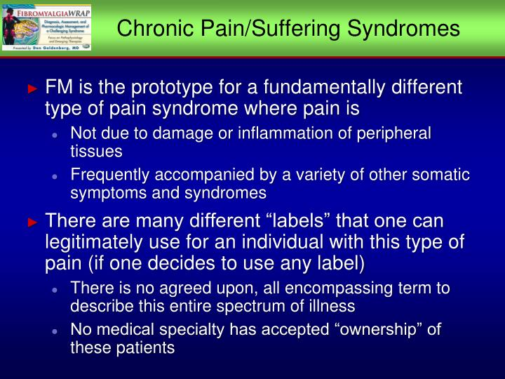 Chronic Pain/Suffering Syndromes
