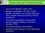 primary care and functional illnesses