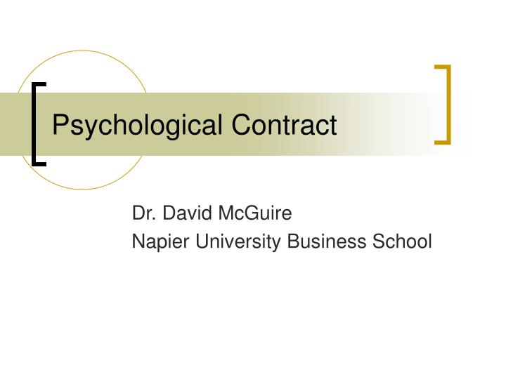 psychological contract and employment relationship However, other aspects of the employment relationship are likely to be confined  to the subconscious (spindler 1994) the term psychological contract.