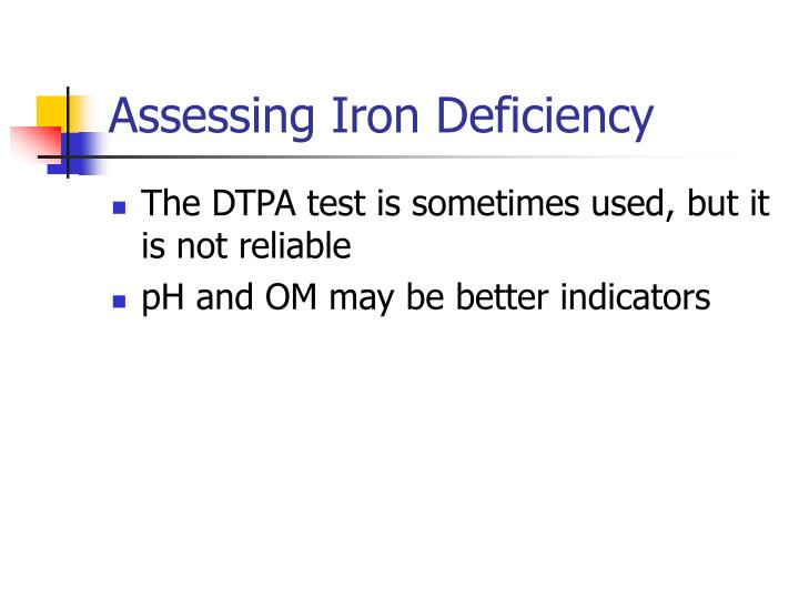 Assessing Iron Deficiency