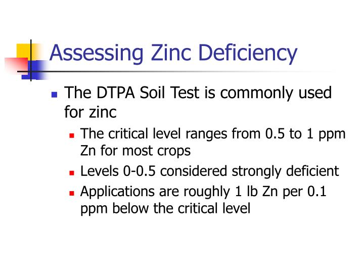 Assessing Zinc Deficiency