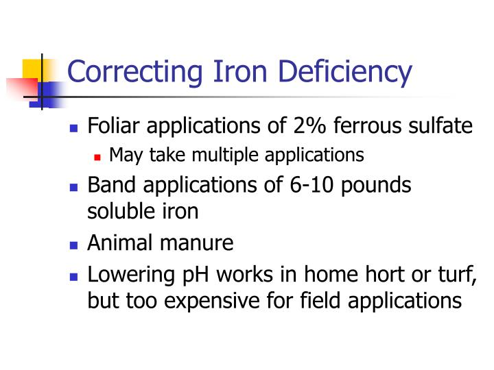 Correcting Iron Deficiency