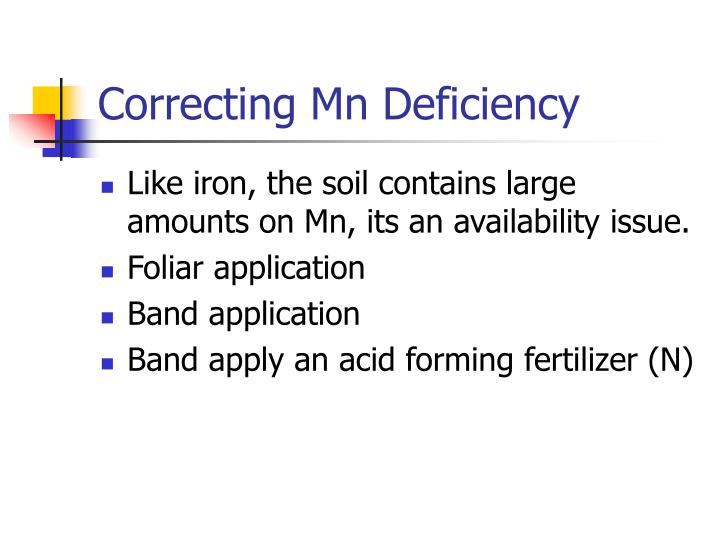 Correcting Mn Deficiency