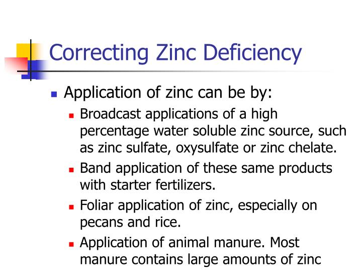 Correcting Zinc Deficiency