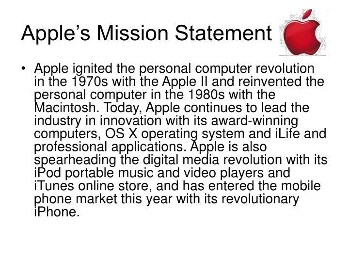 Apple's Mission Statement