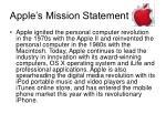 apple s mission statement
