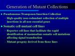 generation of mutant collections