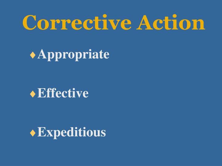 Corrective Action