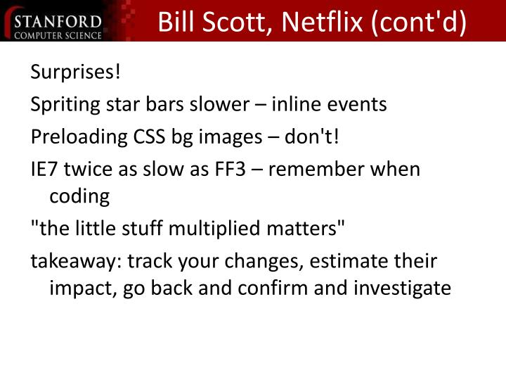Bill Scott, Netflix (cont'd)