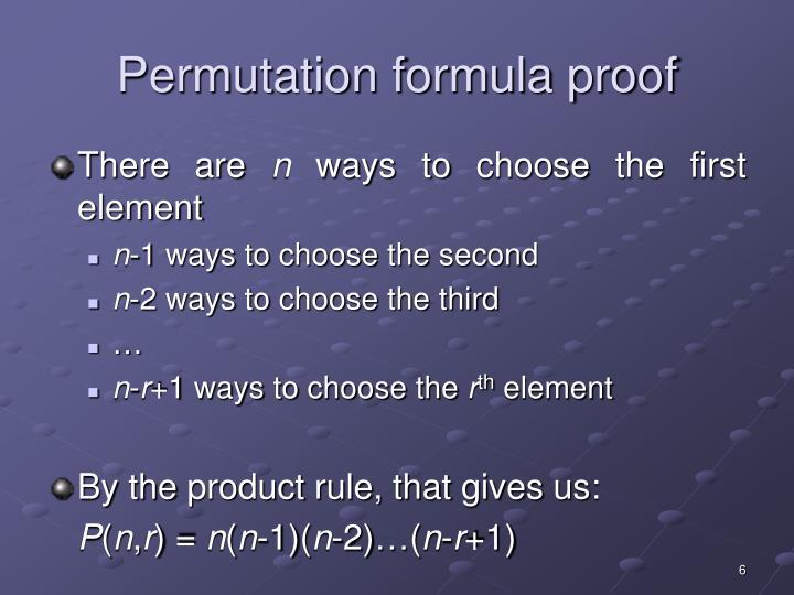 Permutation formula proof