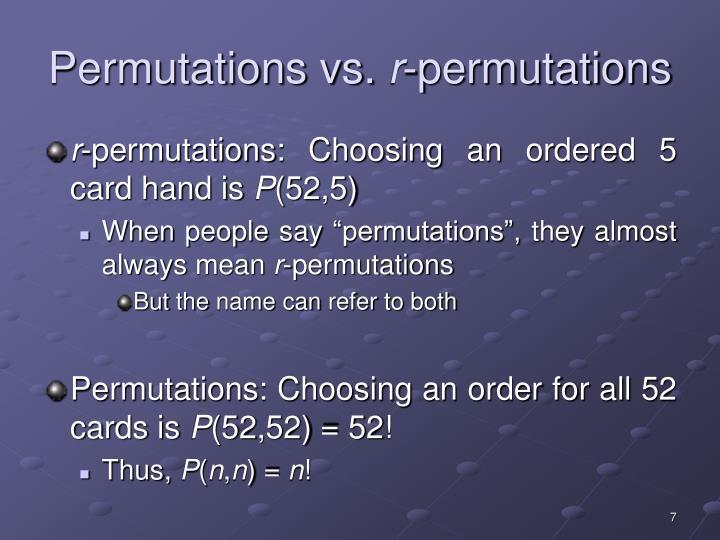 Permutations vs.