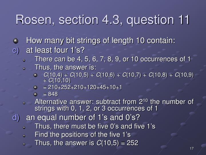 Rosen, section 4.3, question 11