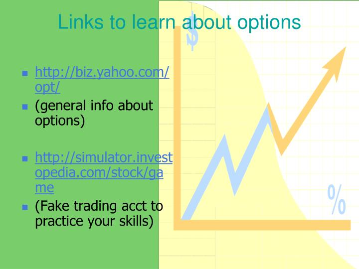 Links to learn about options