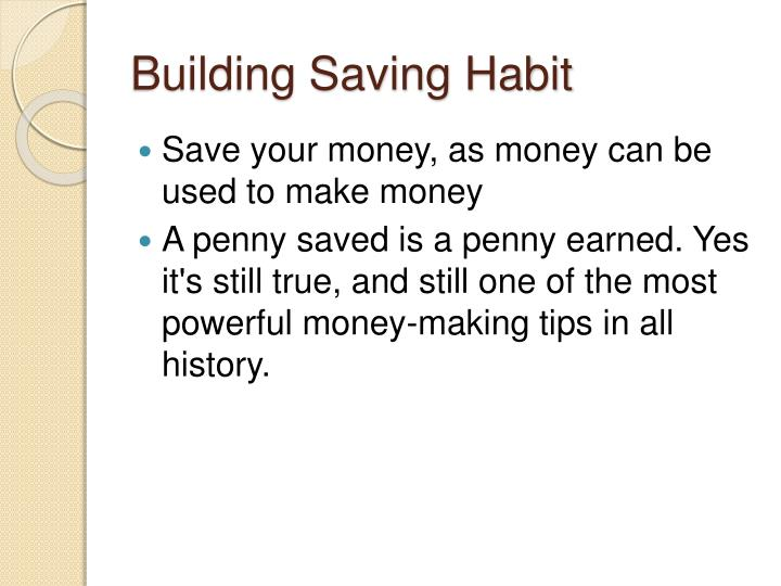 Building Saving Habit
