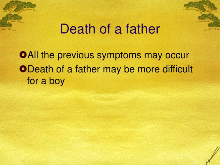 Death of a father