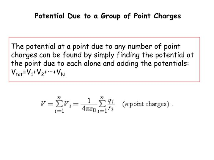 Potential Due to a Group of Point Charges